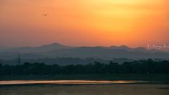 Good Morning (njain73) Tags: hills himalayas india lake morning mountainscape naturallight october october2016 orange sukhna sunrise