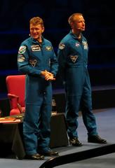 Astronauts Tim Peake and Tim Kopra (surreyblonde) Tags: astronaut spaceman iss spacestation london uk 2016 canon g15 royalalberthall timpeaketim kopra