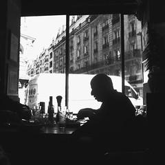 photowalk1 (lux fecit) Tags: paris photowalk onedayinparis restaurant profile eating contrast nb bw