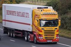 R18BWH  Bedworth Haulage, Coventry (highlandreiver) Tags: r18bwh r18 bwh bedworth haulage transport fridge freight scania truck lorry wagon m6 wreay carlisle cumbria