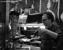 Lady Ma Donner. ((c) MAMF photography..) Tags: britain blackandwhite blackwhite bw biancoenero blancoynegro blanco blancoenero city candid dark england enblancoynegro flickrcom flickr google googleimages gb greatbritain greatphotographers greatphoto inbiancoenero image leeds ls1 leedscitycentre kirkgatemarket mamfphotography mamf market nikon noiretblanc noir negro north nikond7100 northernengland photography photo pretoebranco people schwarzundweis schwarz town uk unitedkingdom upnorth westyorkshire kebab zwartenwit zwartwit zwart
