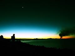 Amantani island (Titicaca sunset) (VinZo0) Tags: coucher soleil sunset moonrise titicaca nature exterieur peru perou lake lac silhouette shadow ombres moon sky ciel night explore dark amantani