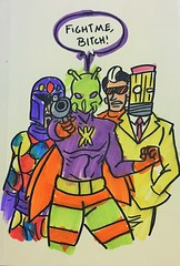 Da Crew. (LordAllo) Tags: dc art random sketches killer moth crazy quilt eraser teneyedman rogues losers batman