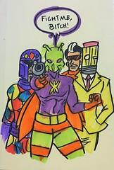 Da Crew. (LordAllo) Tags: dc art random sketches killer moth crazy quilt eraser teneyedman rogues losers batman