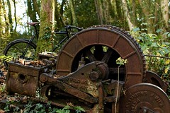 Machinery (hammockbuddy) Tags: ifttt 500px retro nature old vintage tree wood industry abandoned wheel vehicle machine iron rusty outdoors rust wooden antique obsolete no person transportation system