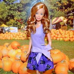 Strawberry Blonde Mackie Face Barbie Doll (The doll keeper) Tags: strawberry blonde mackie face barbie doll ooak best bow dress black cat