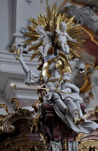 Staffelstein (Alemania). Basilica Vierzehnheiligen. Templete de los 14 Santos. San Jorge