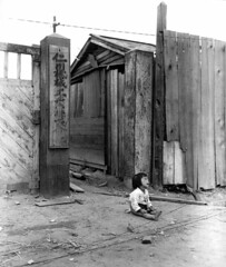 #A small South Korean child sits alone in the street, after elements of the 1st Marine Div. and South Korean Marines invaded the city of Inchon, in an offensive launched against the North Korean forces in that area. September 16, 1950. Pfc. Ronald L. Hanc (Histolines) Tags: histolines history timeline retro vinatage a small south korean child sits alone street after elements 1st marine div marines invaded city inchon an offensive launched against north forces that area september 16 1950 pfc ronald l hancock army 2372 x 2801 vintage dh historyporn httpifttt2fgtr93