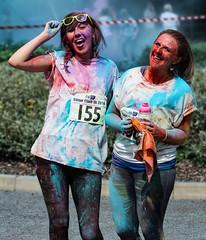 A pair of happy runners-2 (JamesJ.Harris) Tags: colour clash garden house hospice stevenage charity run color bike event fun