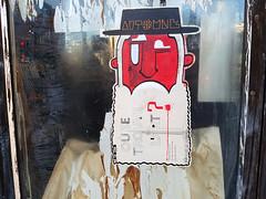 Montreal Street Art - Deuxben de Rennes (Exile on Ontario St) Tags: mileend deuxben deux ben de rennes montral artistes artists artist artiste deuxbenderennes montreal streetart street art barbe beard where trouve automne logo man jewish rabbi rabbin jew hat chapeau poster affiche wheatpaste franais montralais wheat paste porte door window fentre saintlaurent stlaurent instagram mile end arturbain urbanart urbain urban collage saintviateur stviateur autumn fall