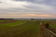 Autumn sky over striped fields (kondex vs mechagodzilla) Tags: sky sunset fields field rural village poland polska polen lubelskie lubelszczyzna landscape clouds cloudy