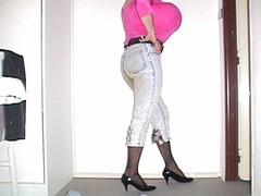 Touch me, hug me press yourself against me (ceskadevka_rk) Tags: sexy horny shiny patent belt black heels light jeans tights top ping boobs huge ceska devka nadrzena