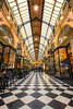 The Royal Arcade (Pat Charles) Tags: architecture interior inside indoor nikon melbourne victoria australia disappearingpoint perspective checks checkered shops shop shopping building cafe windows
