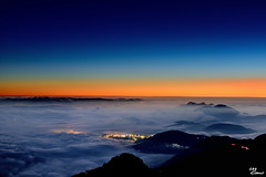 Little Town in Heaven (Clonedbird  & Iris ) Tags:      14      seaofclouds sunset taiwan nantou mountain nationalpark
