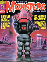 Famous Monsters #133 (1977), cover art by Bill Selby (Tom Simpson) Tags: billselby robbytherobot famousmonsters illustration art painting vintage 1977 1970s cover magazine