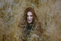 Home in the fields (VeeePhotoJourney) Tags: wild girl woman beauty natural hair red ginger freckles nordic genes lentiggini capelli val gardena fotografia portrait nikoon d7100 50 mm best lens anna model fun shooting autumn look orange rusty sdtirol people italy
