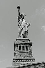 Statue of Liberty (cmfgu) Tags: newyorkcity nyc newjersey nj jerseycity libertystatepark newyork ny statueofliberty libertyisland blackandwhite bw