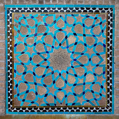 Mosaic pattern with ceramic tiles in jameh masjid or friday mosque, Yazd province, Yazd, Iran (Eric Lafforgue) Tags: 0people ancient architecture art artandcraft ceramic colorimage coloured cultural culture cultures day decorated decoration history indoors iran iranianculture jamehmosque middleeast mosaic multicoloured mural nopeople nobody orient ornate pattern persia persian square tile tiled tiles tilework traditional yazd yazdprovince ir