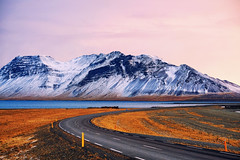Magic moment in Iceland (3dgor ) Tags: iceland road pink dawn magic magicmoment ice