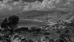 Pefkos Resort ( Rhodes - Greece) (BW) (Olympus OMD EM5I & Sigma 30mm f2.8 Prime)  (1 of 1) (markdbaynham) Tags: greece greek grecia greka pefkos rhodes rhodos island view landscape olympus omd em5 csc mirrorless evil mft m43 m43rd micro43 micro43rd sigma 30mm f28 prime