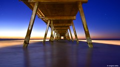 Glenelg Jetty (Sougata2013) Tags: adelaide southaustralia australia glenelg jetty sunset colours sea nikond7200