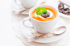 Cream Carrot and Truffle Soup in a Cup (dolphy_tv) Tags: appetizer autumn brunch butternut carrot carrotsoup colorful cream creamsoup creamy cuisine cup delicious diet dinner fall food ginger harvest leaf lunch mashed mug mushroom orange parsley pepper portion potato potatosoup pumpkin puree seasonal slice soup sourcream spoon squash starter table tasty thick truffle vegetable vegetablesoup vegetarian white yellow yoghurt yogurt