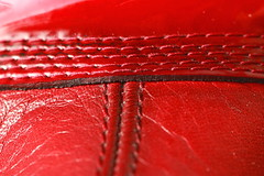 A Stitch In Time (acwills2014) Tags: macromondays red stitch stitching decorative texture textures leather macro boots
