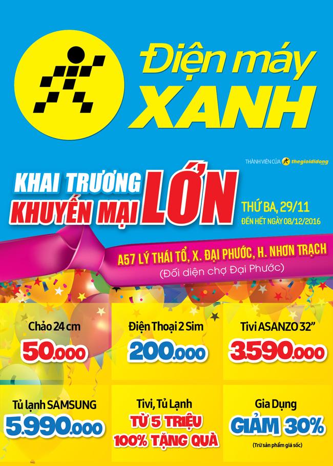 Khai trương siêu thị Điện máy XANH Đại Phước, Đồng Nai