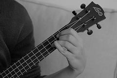 Ukulele song (adelina_tr) Tags: 7dwf 7dayswithflickr bw nikond5300 ukulele music hand cords strings