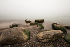 at the edge of the nothingness (Marc McDermott) Tags: rocks landscape surreal lake ontario mist long exposure water sky infinite horizon autumn canada nature beautiful