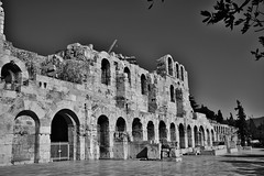 Theatre of Herodes Atticus (deppy_kar) Tags: theatre herodes atticus theatreofherodesatticus herodeon odeon athens acropolis architecture archtectural ruins ancient culture greece greek black white blackandwhite blackwhite heritage arches herodion archaeologicalsight travel travelers traveling europe nikon nikond5200 d5200 dslr nikkor