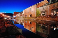 Otaru Canal (Gai) Tags:    otaru hokkaido japan   summer  night  canal  water  warehouse  light