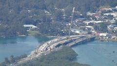 New bridge at Laurieton (spelio) Tags: manning shire laurieton north mountain views travel nsw australia oct 2016 view high crane construction water inlet bridge road rural taree