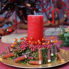 Schnen 2. Advent (ingrid eulenfan) Tags: advent adventsgesteck kerze blumenlandengler stillleben stilllife christmas weihnachten