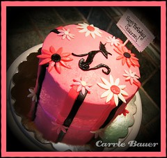 Black Cat cake by Carrie B of the Twin Cities, MN chapter of Birthday Cakes 4 Free. This cake was for a resident at a shelter.