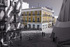 Otra de setas (Zu Sanchez) Tags: bw blancoynegro cutout photo sevilla spain photographer seville bn setas desaturado metrosolparasol     zusanchez setasdelaencarnacion