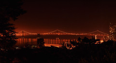 San Francisco at Night (Surrealplaces) Tags: sanfrancisco bridge night oaklandbaybridge