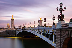 Pont Alexandre III (night86mare) Tags: travel bridge sunset paris france golden long exposure iii surreal invalides pont alexandre k5 10mm