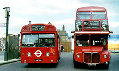 AEC London Buses Routemaster RML2595 JJD595D + Swift SMS369 EGN369J Edgware Station (sms88aec) Tags: aec london buses rml2595 jjd595d sms369 egn369j edgware station routemaster swift