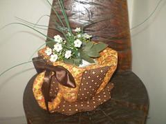 Xícara de tecido... (gracyceres) Tags: patchwork decoração tecido capanotebook bolsanotebook xícaratecido