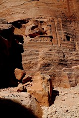 Tomb of Petra  (YellowSingle ) Tags: world heritage nikon tomb petra unesco jordan arab archaeological vr epitaph nabataeans 1685mm
