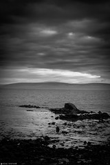 The Rocky Shore (Alan Travers) Tags: ocean ireland sea blackandwhite bw galway rock canon dark blackwhite salthill canonef50mmf18ii project365 365project canon550d