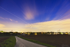 (Andreas Reinhold) Tags: road longexposure night plane path trail bergischesland mettmann andreasreinhold