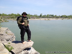 Wolfmaan in Wainfleet Quarry 201305-20 (Wolfmaan) Tags: camping feet nature water outdoors outdoor hiking scuba niagara barefoot toering escarpment barfuss
