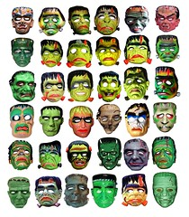 Mundo Frankenstein creatures (Brechtbug) Tags: family holiday man green halloween souls monster vintage skeleton lost island skull costume mask ben like evil s screen masks frankenstein cooper herman undead patchwork zombies grab creature 36 vamp lurch munster addams collegeville frankensteins