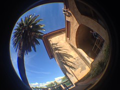 Station Exterior of Baco (CoasterMadMatt) Tags: park parque espaa fish eye primavera station port de lens outside photography amusement spring spain foto exterior distorted photos may fisheye mayo baco themepark aventura espaol fisheyelens atracciones iphone fotografa fotografas portaventura parquetemtico 2013 furius furiusbaco coastermadmatt uploaded:by=flickrmobile flickriosapp:filter=nofilter