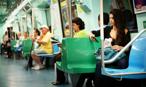 La belle du Metro by Carlos Ebert, on Flickr