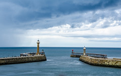 Stormy skies (Anniison) Tags: blue rain clouds yorkshire whitby