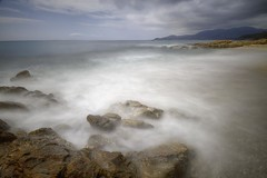 Plage de Gigaro (Philippe Saire || Photography) Tags: sea mer seascape france beach nature water rock canon landscape eos bay coast sand eau long exposure riviera pierre sable sigma wave wideangle playa cte ctedazur paca shore 7d provence 1020mm paysage vague plage var hdr rocher jete hoya baie nd400 cavalairesurmer photomatix provencealpesctedazur philippesaire