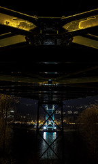 Under the Lions Gate (insomniac199) Tags: nightphotography bridge vancouver gate long britishcolumbia lions exposures